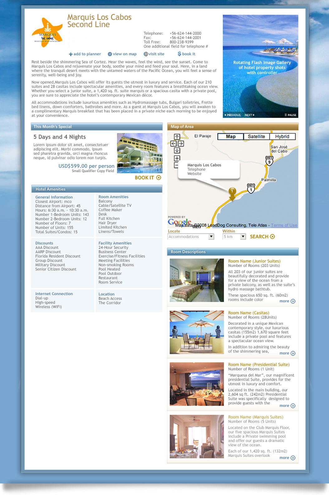 Los Cabos online hotel detail