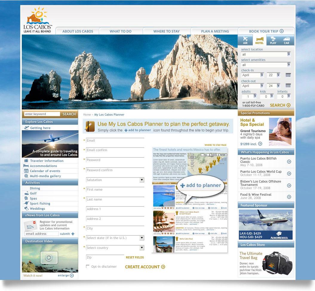 Los Cabos online planner