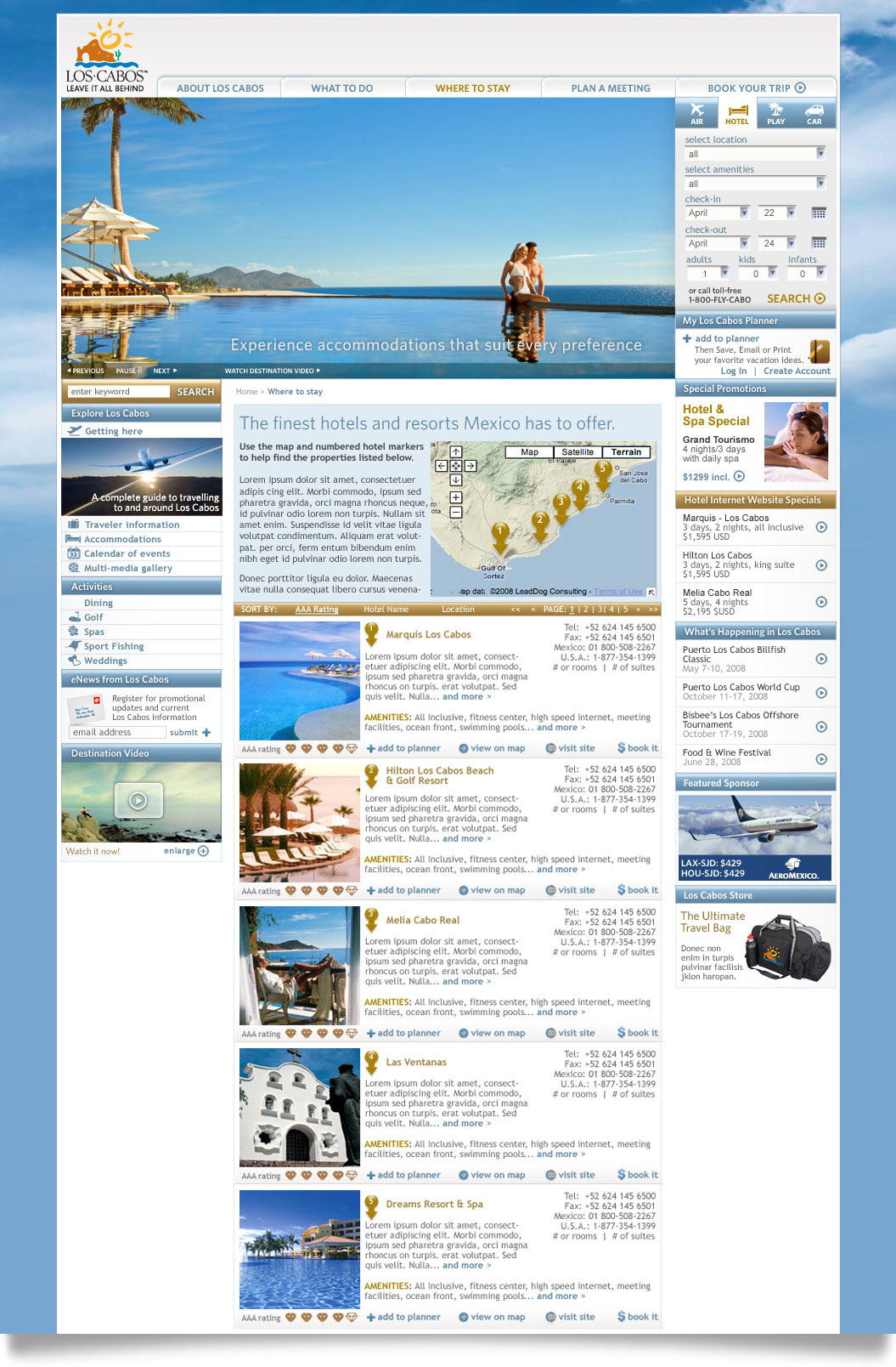 Los Cabos online where to stay