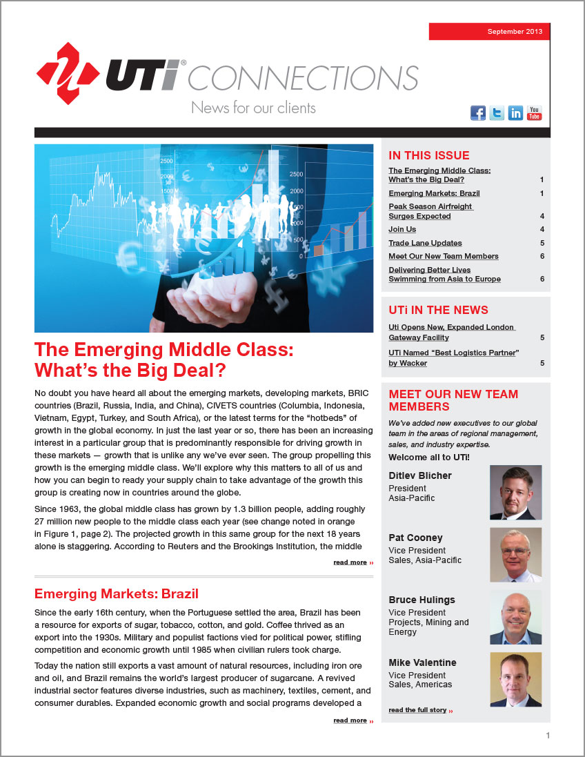 UTi Connections Newsletter