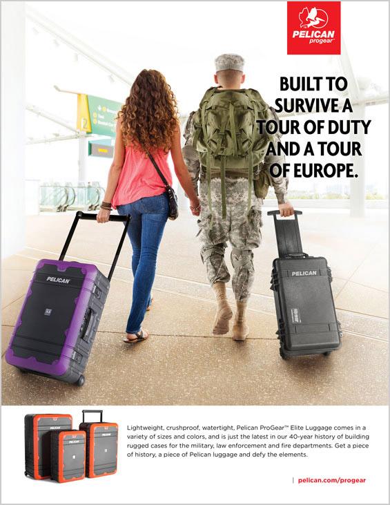 Pelican Tour of Duty 1p Print Advertising