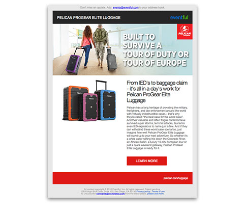 Pelican luggage - Eventful Direct Mail